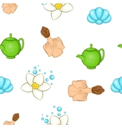 SPA elements pattern cartoon style vector