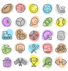 sports trendy new icon set eps vector image