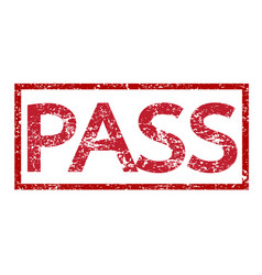 stamp pass text vector image