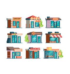 storefront facade urban local market facade vector image