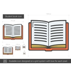 Student book line icon vector