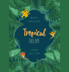 Summer tropical background design vector