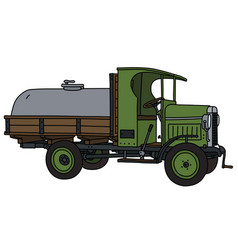 The vintage tank truck vector