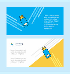 usb abstract corporate business banner template vector image