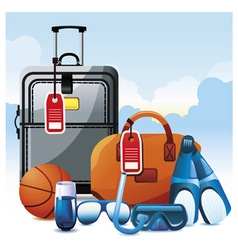 vacation icon set vector image vector image