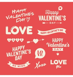 Valentines day design elements vector image