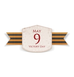 Victory Day May 9 paper white Emblem vector image