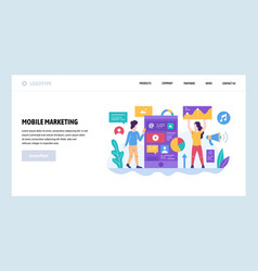 Web site design template digital and vector