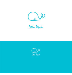 whale logo cute concept for baby brand ocean vector image