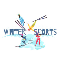winter sports concept vector image
