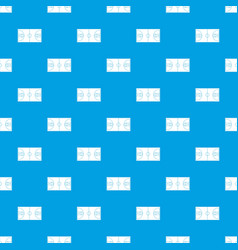 basketball field pattern seamless blue vector image vector image