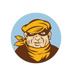 Burglar thief or mugger looking at you vector image