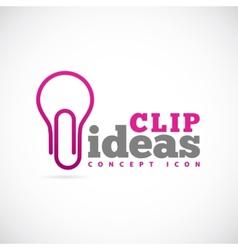 Clip Ideas Concept Symbol Icon or Logo Template vector image vector image