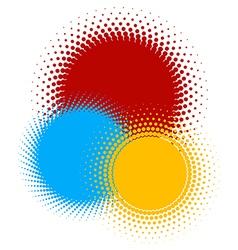 Halftones 2 vector image vector image
