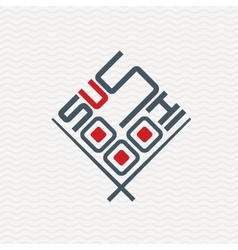 icon with sushi vector image
