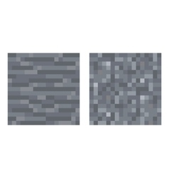 Texture for platformers pixel art - stone vector image