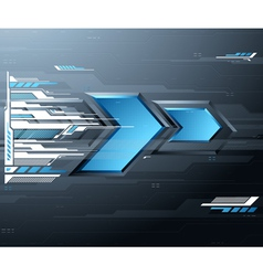 Abstract futuristic background with blue arrows vector image
