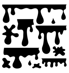 blots splashes and smudges vector image vector image