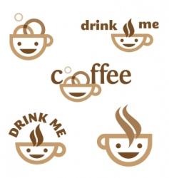 coffee drink me emblem vector image vector image