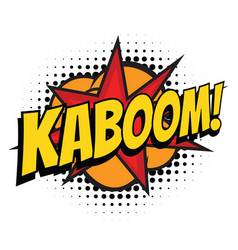 kaboom comic word vector image