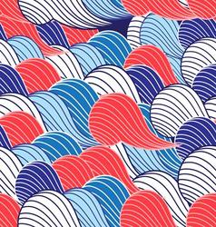 Seamless abstract pattern with a fantastic large vector image vector image