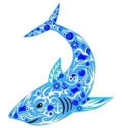 shark blue vector image vector image