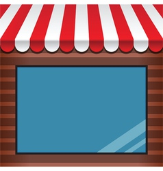 storefront with awning vector image