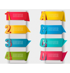 Abstract origami retro banners with litters and vector image vector image
