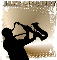 Jazz concert wallpaper vector image vector image
