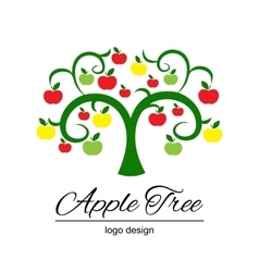 Stylized apple tree vector image