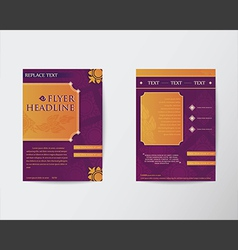 Abstract Brochure Flyer Thai style template in A4 vector image vector image