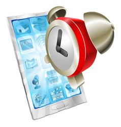 alarm clock icon phone concept vector image vector image