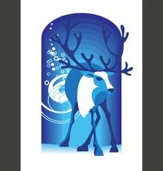 blue deer vector image vector image