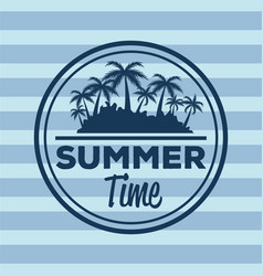 colorful stripe background with logo summer time vector image vector image