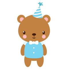 cute bear in the cap vector image vector image