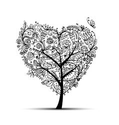 Love floral tree for your design vector image vector image