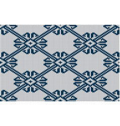 norwegian knitted pattern on a white background vector image vector image