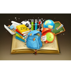 School and book background vector image vector image