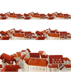 seamless city borders vector image