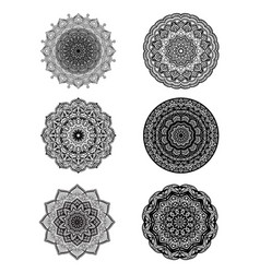 Set of mandalas for decorative round ornaments vector