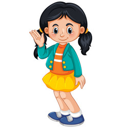 A cute girl character vector