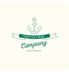 Abstract anchor vintage logo design vector image