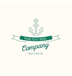 Abstract anchor vintage logo design vector