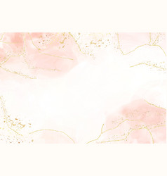 Abstract dusty blush liquid watercolor background vector
