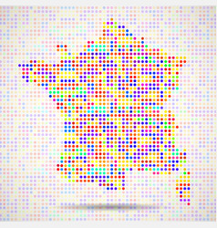 abstract map of france colorful dots vector image