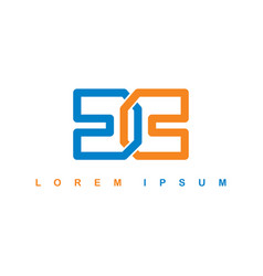 Alphabet letter cc dc logo logotype template vector
