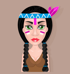 American indians woman vector