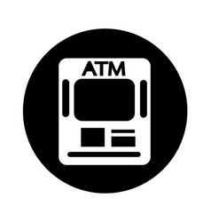 atm card slot icon design vector image