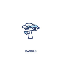 Baobab concept 2 colored icon simple line element vector