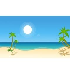 Beach scenery vector